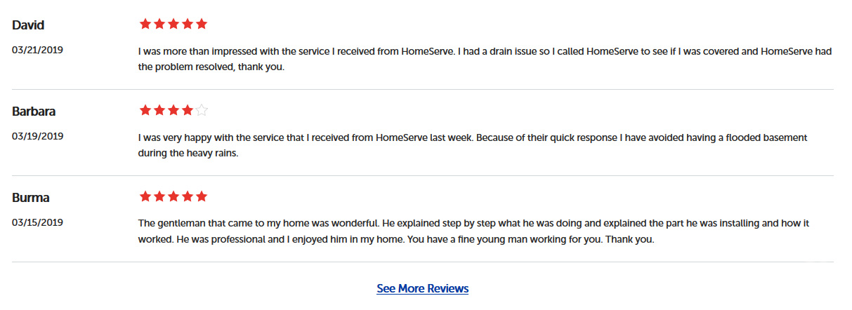 HomeServe Reviews